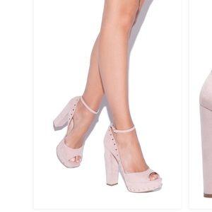 Blush high heels